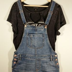 Old Navy Boho Jean Denim Shorts Overalls